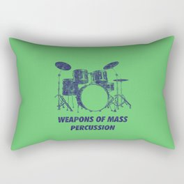 Weapons Of Mass Percussions Funny Drums Vintage Drummer Distressed Rectangular Pillow
