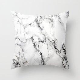 White Marble Texture Throw Pillow