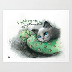Lazy Cat Art Print