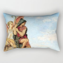 """Gustave Moreau """"Hesiod and the Muse"""" (1870) Rectangular Pillow"""