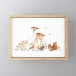 Fawn & Friends Framed Mini Art Print