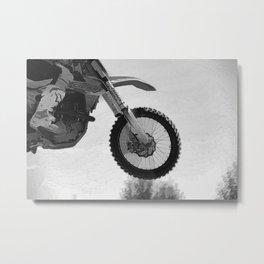 Motocross Dirt-Bike Racer Metal Print