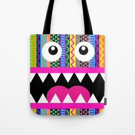 Aztec Pattern Crazy Face Tote Bag