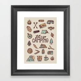 Lets Go Camping Framed Art Print