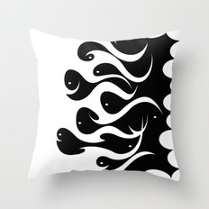 Magic Fishes Throw Pillow