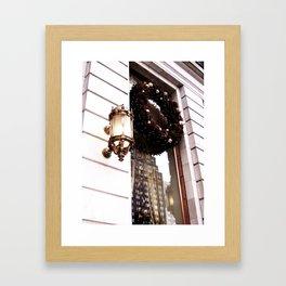 Christmas Wreath Framed Art Print