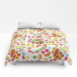 Rainbow candies Comforters