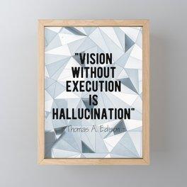 Motivational - Thomas A. Edison quote 1 Framed Mini Art Print