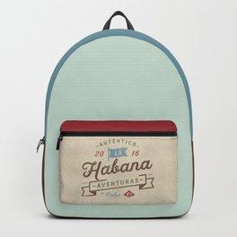 Vintage Havana Cuba Logo Backpack