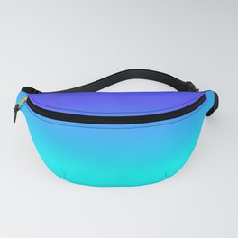 Neon Blue and Bright Neon Aqua Ombré Shade Color Fade Fanny Pack
