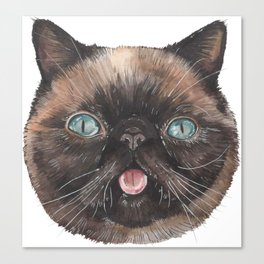 Der the Cat - artist Ellie Hoult Canvas Print