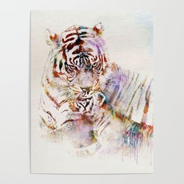 Tigress with Cub Poster
