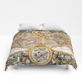Vintage World map Comforters