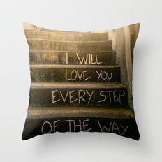Love Steps Throw Pillow