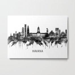 Havana Cuba Skyline BW Metal Print