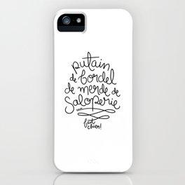 Sacres France - Black iPhone Case