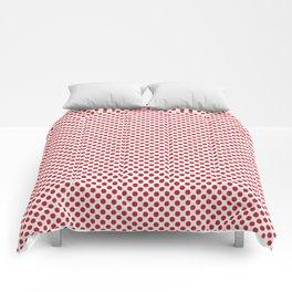 Flame Scarlet Polka Dots Comforters