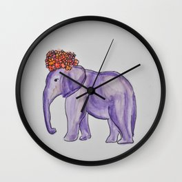 stylish elephant Wall Clock