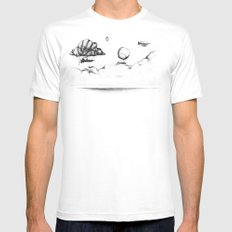 the crossing MEDIUM White Mens Fitted Tee