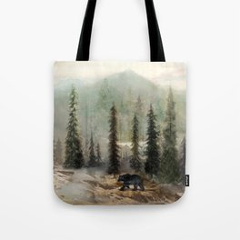 Mountain Black Bear Tote Bag