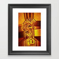 Abstract Autoportrait Framed Art Print
