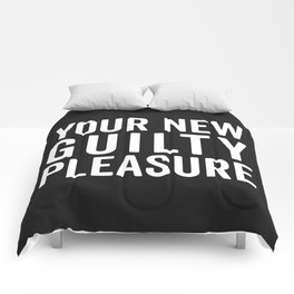New Guilty Pleasure Funny Quote Comforters