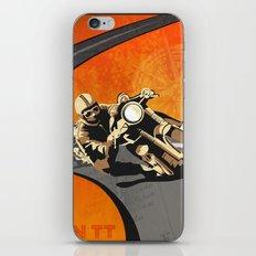 vintage Isle of Man TT motor race poster iPhone & iPod Skin