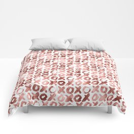 XOXO Kiss Me Rose Gold Pattern Comforters