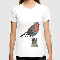 robin T-shirts featuring Robin by Jess Stewart-Croker