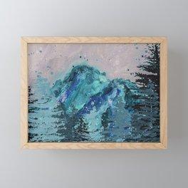 Mount Baker - Washington - Mountain Painting Framed Mini Art Print