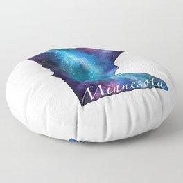 Minnesota State Galaxy Watercolor Floor Pillow