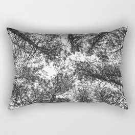 Black And White Tree Forest Art Work Rectangular Pillow