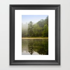 Sunrise Fog Landscape Framed Art Print