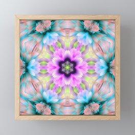flo 3d mandala Framed Mini Art Print