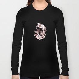 Flowers Surrounding a Hummingbird Long Sleeve T-shirt