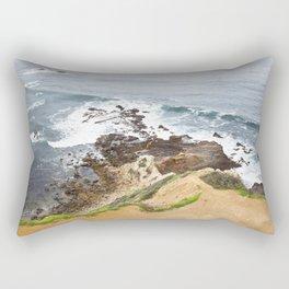 The Pacific Coast Along PVE, CA Rectangular Pillow