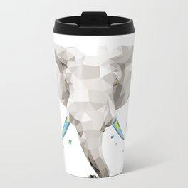 Geosafari   Elephant (White) Metal Travel Mug