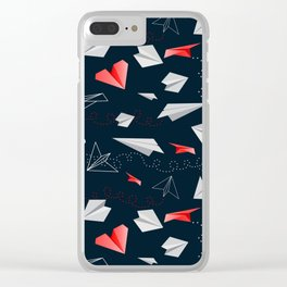 Paper airplanes Clear iPhone Case