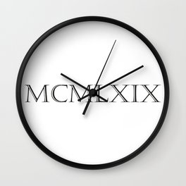 Roman Numerals - 1969 Wall Clock