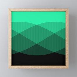 Light Green to Black Ombre Signal Framed Mini Art Print