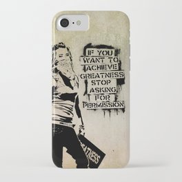 Banksy, Greatness iPhone Case