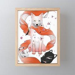 Red Kitsune Framed Mini Art Print