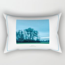 On the road, modern travelling landscape photography. Rectangular Pillow