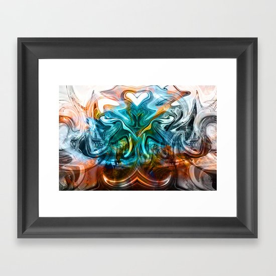 liquified time Framed Art Print