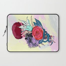 Chrysanth Wisteria & Lily - & Rose  Laptop Sleeve