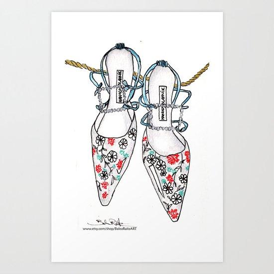 A love affair with Manolos  Art Print
