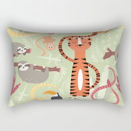 Rain forest animals 004 Rectangular Pillow