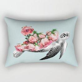 Sea turtle Art Print Rectangular Pillow