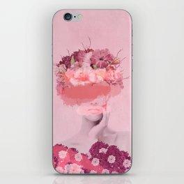 Woman in flowers iPhone Skin