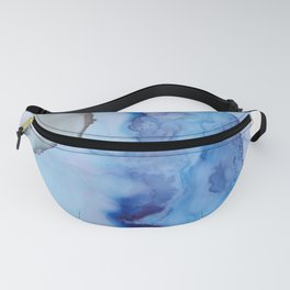 Blue Ice Arctic Abstract Fanny Pack
